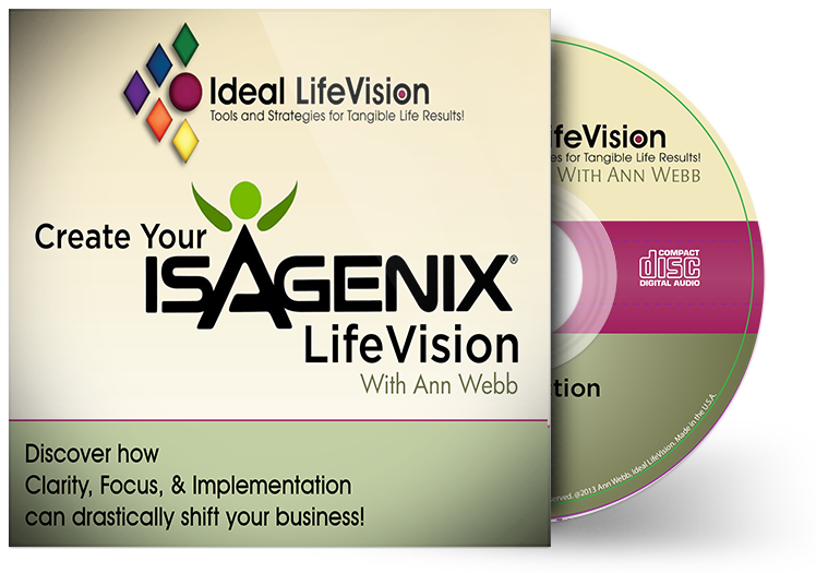 Isagenix lifevision ideal life vision this cd training was created to give you absolute clarity in moving forward your isagenix business by helping you design your unique isagenix lifevision malvernweather Images