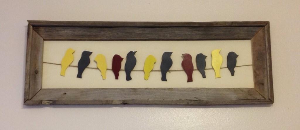 birds in a frame